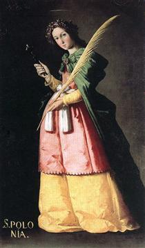 Santa Apolônia - Francisco de Zurbarán