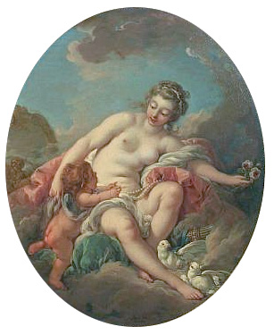 Venus Restraining Cupid - Francois Boucher