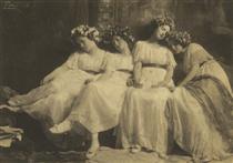 Slumbering Maidens - Frank Eugene