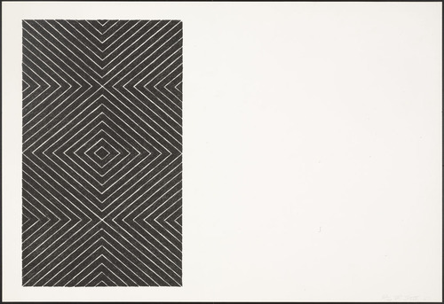 Gezira (from Black Series II), 1967 - Frank Stella