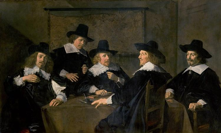 Regents of the St. Elisabeth's Hospital, Haarlem, 1641 - Франс Галс