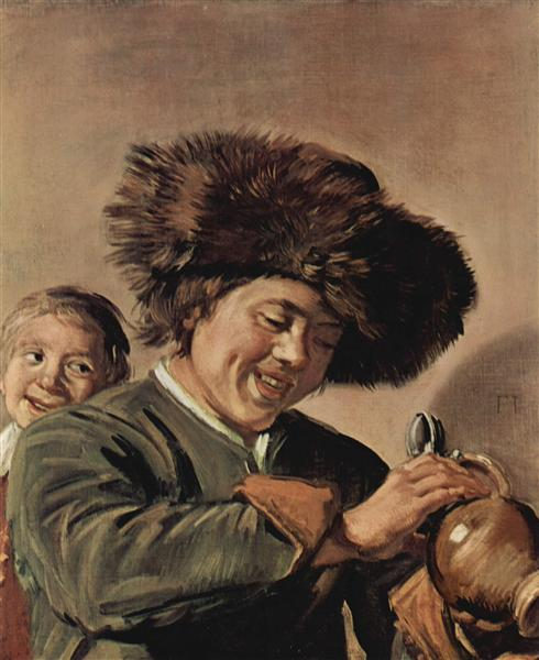 Two laughing boys with a beer mug, c.1626 - c.1627 - Frans Hals