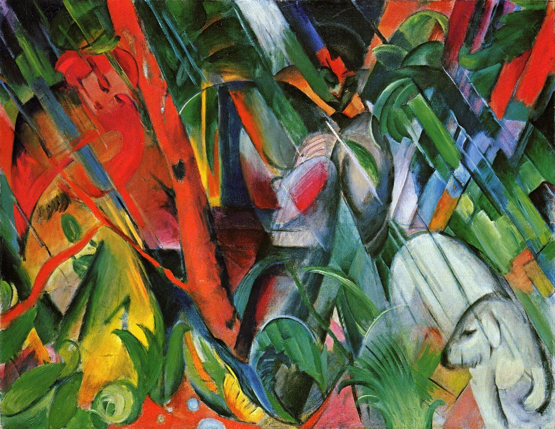 in the rain franz marc encyclopedia of visual arts. Black Bedroom Furniture Sets. Home Design Ideas