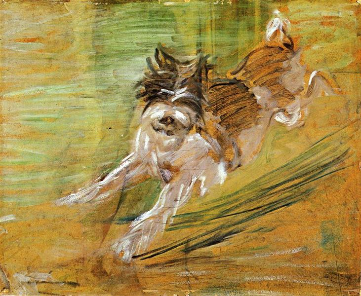 Jumping Dog Schlick, 1908 - Franz Marc