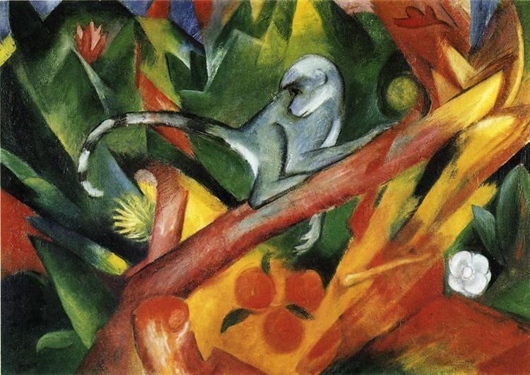 The Monkey, 1912 - Franz Marc