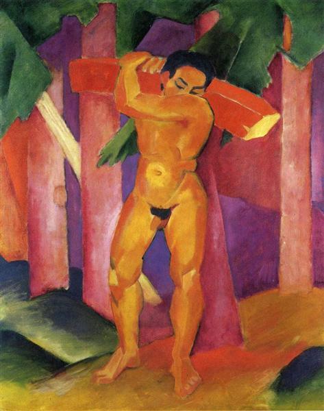 Woodcutter, 1911 - Franz Marc