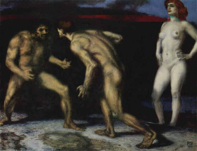 Battle for a Woman - Franz von Stuck
