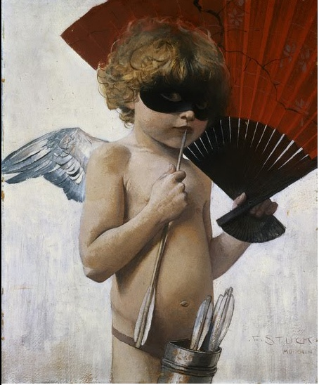 Cupid at The Masked Ball - Franz Stuck