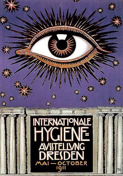 Poster for the International Hygiene Exhibition 1911 in Dresden, 1911 - Franz Stuck