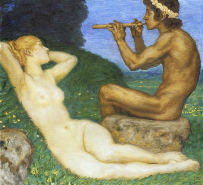 Springtime of love, 1917 - Franz Stuck