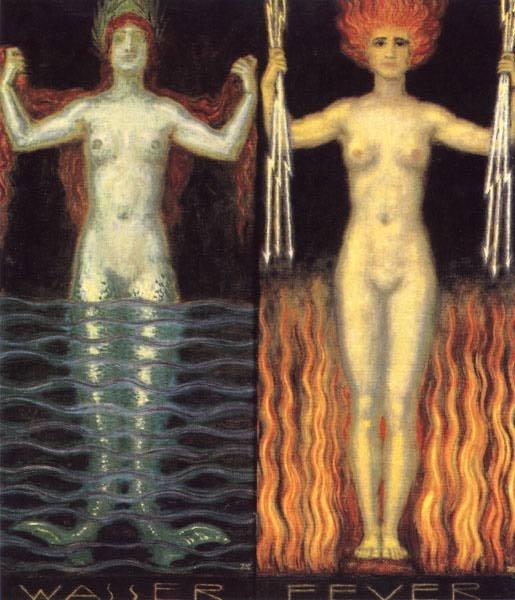 Water and Fire - Franz Stuck