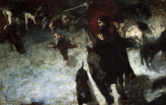 Wild Chase, 1889 - Franz Stuck