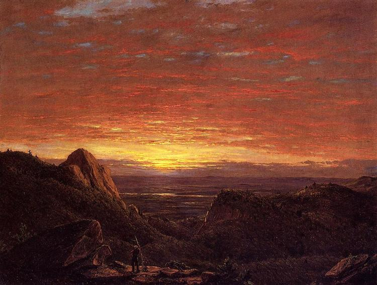Morning, Looking East over the Hudson Valley from Catskill Mountains, 1848 - Frederic Edwin Church