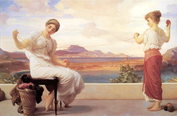Winding the Skein, c.1878 - Frederic Leighton