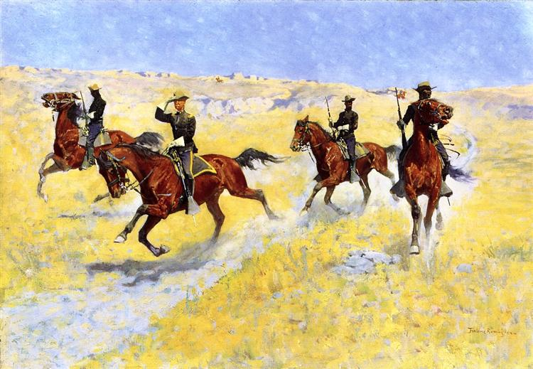 The Advance, 1898 - Frederic Remington