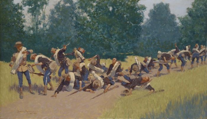The Scream of Shrapnel at San Juan Hill, 1898 - Frederic Remington