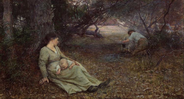 On the wallaby track - Frederick McCubbin