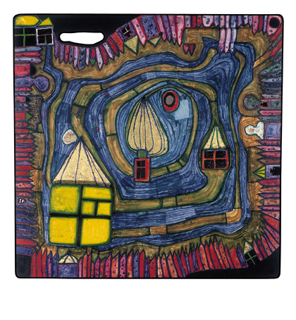 808 End of the Waters, 1977 - Friedensreich Hundertwasser
