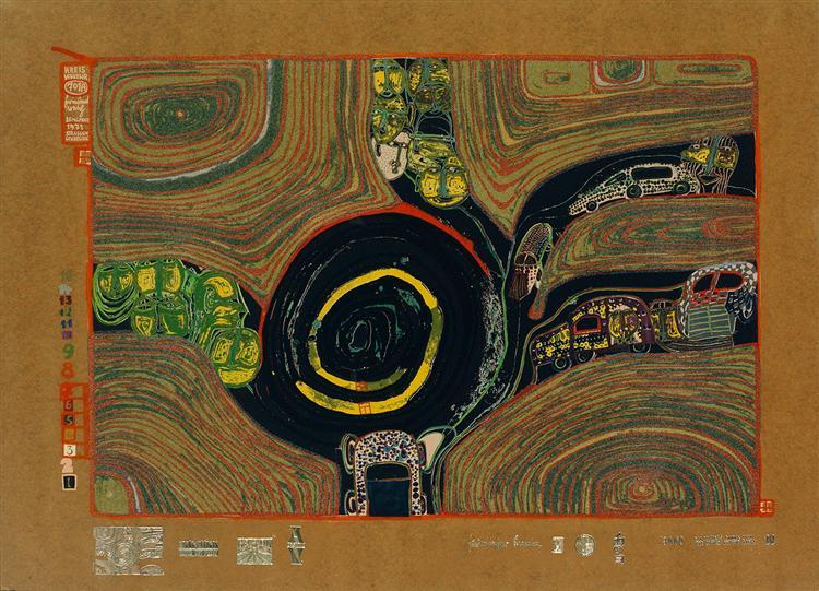 701A  Crusade of the Crossroaders, 1971 - Friedensreich Hundertwasser