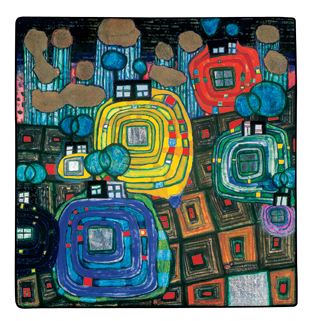 814 Pavilions and Bungalows for Natives and Foreigners, 1980 - Friedensreich Hundertwasser