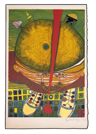 653 The Boy with the Green Hair, 1967 - Friedensreich Hundertwasser