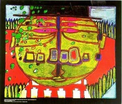 567 Three-Eyed Green Buddha with Hat, 1963 - Friedensreich Hundertwasser