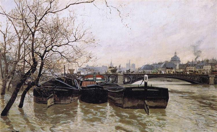Flooding by the Seine, 1893 - Frits Thaulow