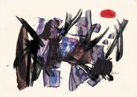Komposition mit rotem Fleck, 1960 - Fritz Winter