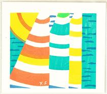 Sails at Sea - Funasaka Yoshisuke