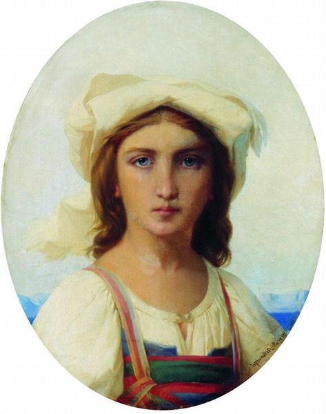 Italian woman, 1869 - Федір Бронников