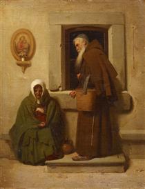 The monk and the beggar - Fyodor Bronnikov