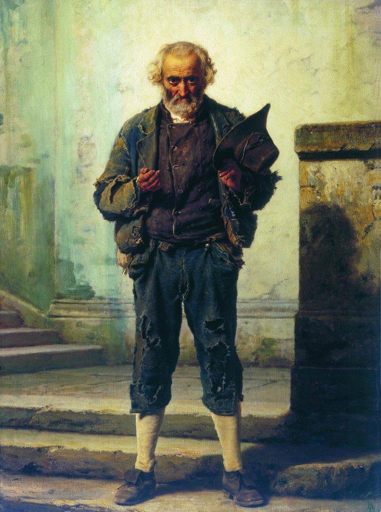 The old beggar, 1869