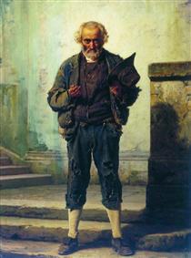 The old beggar - Fyodor Bronnikov