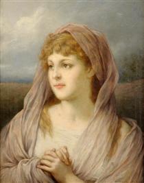 Blonde Frau - Gabriel von Max