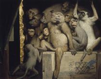 Monkeys as Judges of Art - Gabriel von Max