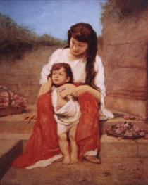 Mutter mit Kind - Gabriel von Max