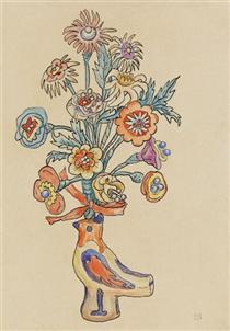 Blumenblatt - Vogelvase - Gabriele Munter