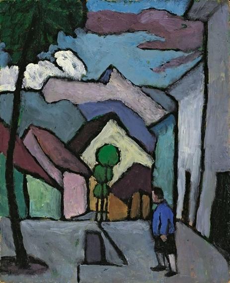 http://uploads6.wikiart.org/images/gabriele-munter/hauptstrasse-mit-mann-1934(1).jpg