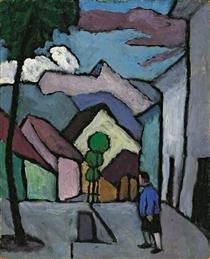 Hauptstrasse (Mit Mann) - Gabriele Munter