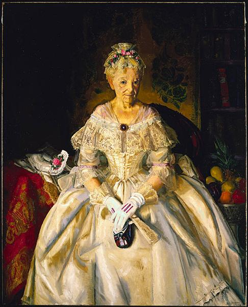 Mrs. T in Cream Silk, No. 2, 1920 - George Bellows