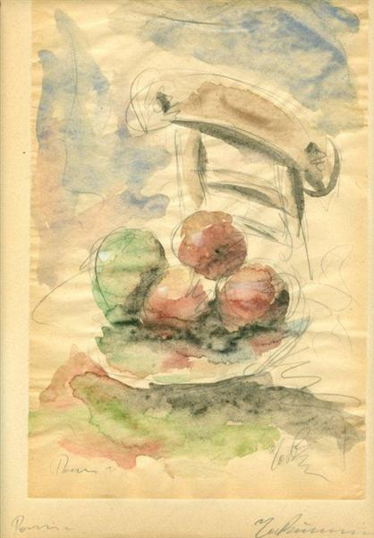 Still Life with Fruit and Chair, 1931 - George Bouzianis