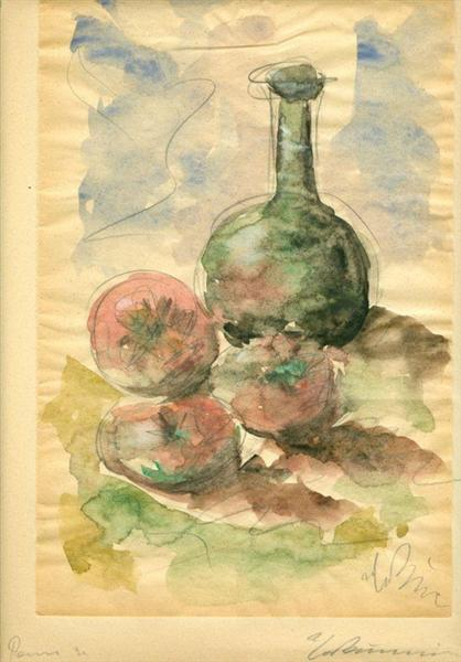 Still Life with Tomatoes and Pitcher, 1931 - Георгос Бузианис