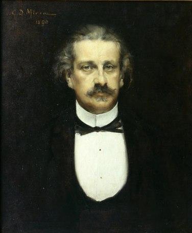 Portrait of Alexandru Odobescu - George Demetrescu Mirea