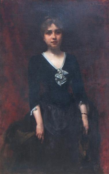 Portrait of Mrs. Sihleanu, 1877 - George Demetrescu Mirea