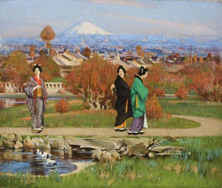 In a Tokyo Garden, 1895 - George Henry