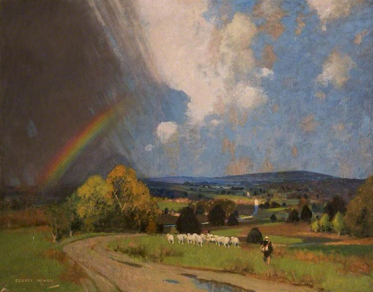 Landscape with Rainbow - George Henry