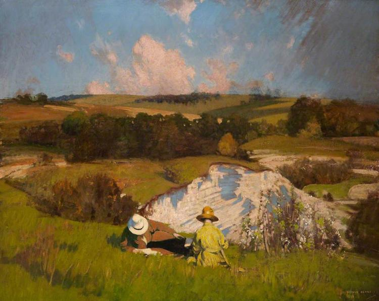 The Chalk Pit - George Henry