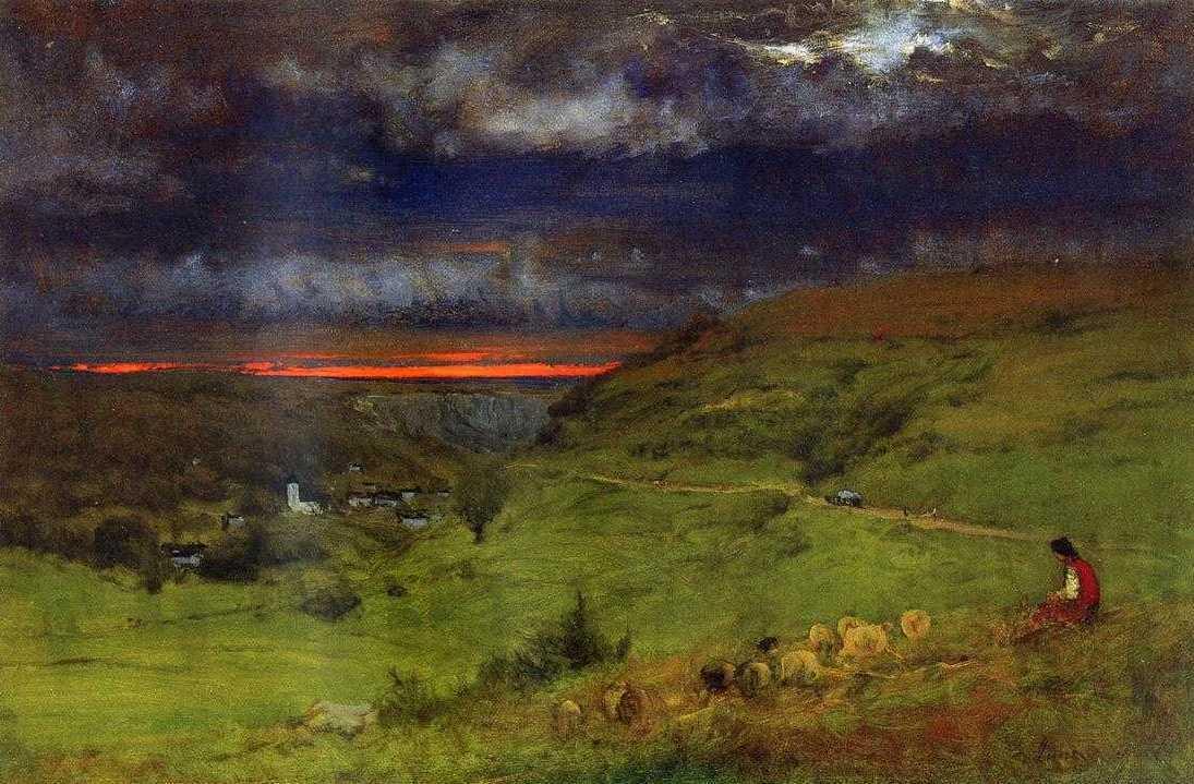 Sunset at Etretat, 1875