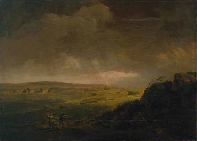 Moorland Landscape with Rainstorm, 1751 - George Lambert