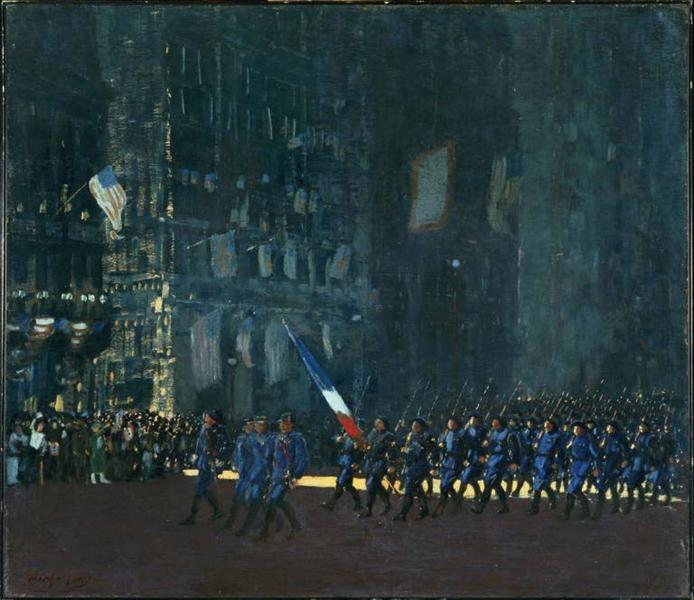 Blue Devils on Fifth Avenue, 1918 - George Luks